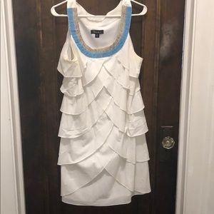 White dress with beads